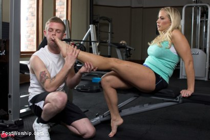 Photo number 5 from Physical Trainer Worships Sweaty MILF Feet! shot for Foot Worship on Kink.com. Featuring Angel Allwood and Cliff Adams in hardcore BDSM & Fetish porn.