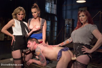 Photo number 2 from Panty thief pumped full of viagra then teased and denied by three mean lingerie store bitches! shot for Divine Bitches on Kink.com. Featuring Bella Rossi, Mz Berlin, Jay Rising and Mona Wales in hardcore BDSM & Fetish porn.