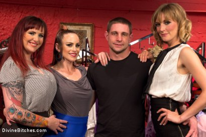 Photo number 10 from Panty thief pumped full of viagra then teased and denied by three mean lingerie store bitches! shot for Divine Bitches on Kink.com. Featuring Bella Rossi, Mz Berlin, Jay Rising and Mona Wales in hardcore BDSM & Fetish porn.