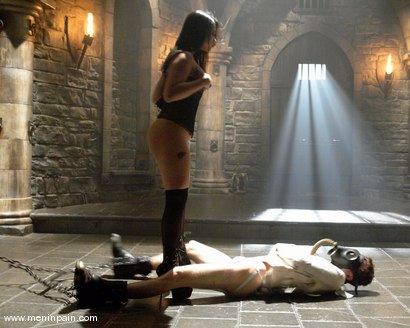 Photo number 1 from Mika Tan and Elliot Skellington shot for Men In Pain on Kink.com. Featuring Mika Tan and Elliot Skellington in hardcore BDSM & Fetish porn.