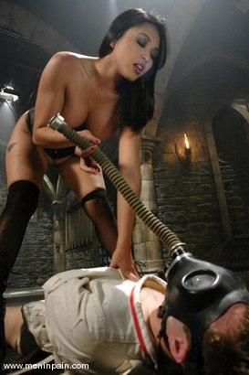 Photo number 2 from Mika Tan and Elliot Skellington shot for Men In Pain on Kink.com. Featuring Mika Tan and Elliot Skellington in hardcore BDSM & Fetish porn.