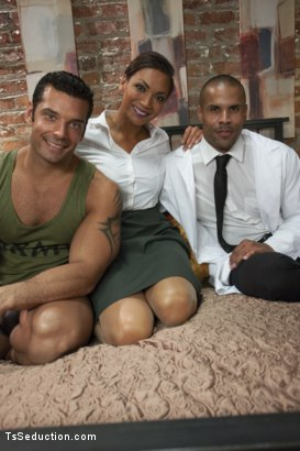 Photo number 15 from Part 2: Super Soldier Feature Update starring Yasmin Lee shot for TS Seduction on Kink.com. Featuring Yasmin Lee, Marcus Ruhl and Robert Axel in hardcore BDSM & Fetish porn.