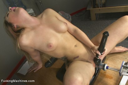 Photo number 15 from Athletic Babe Fucks Herself in the Coach's office  shot for Fucking Machines on Kink.com. Featuring Jenna Ashley in hardcore BDSM & Fetish porn.