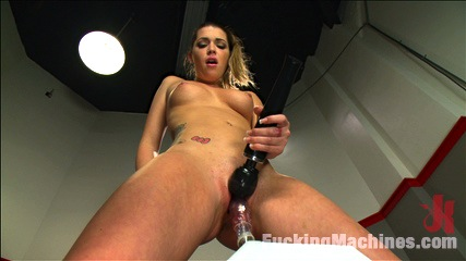 Athletic Babe Fucks Herself in the Coach's office