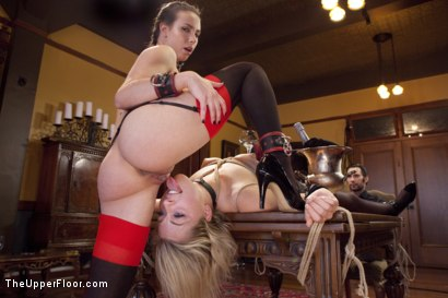 Photo number 3 from Training the Ass Licking Fluffer shot for The Upper Floor on Kink.com. Featuring Tommy Pistol, Casey Calvert  and Zoey Monroe in hardcore BDSM & Fetish porn.