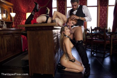 Photo number 5 from The New Maid shot for The Upper Floor on Kink.com. Featuring Xander Corvus, Penny Pax and Jenna Ashley in hardcore BDSM & Fetish porn.