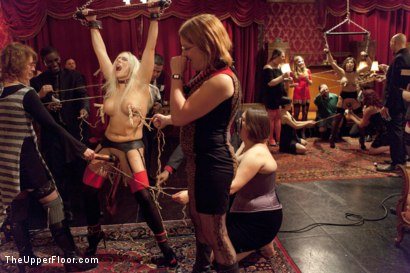 Photo number 3 from Initiating Aleksa Nicole shot for The Upper Floor on Kink.com. Featuring Karlo Karrera, Angel Allwood and Aleksa Nicole in hardcore BDSM & Fetish porn.