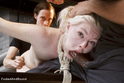 Photo number 5 from Young Slut takes 2 Massive Cocks shot for Fucked and Bound on Kink.com. Featuring Owen Gray, Mickey Mod and Ella Nova in hardcore BDSM & Fetish porn.