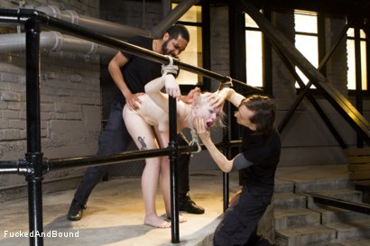 Photo number 4 from Young Slut takes 2 Massive Cocks shot for Brutal Sessions on Kink.com. Featuring Owen Gray, Mickey Mod and Ella Nova in hardcore BDSM & Fetish porn.