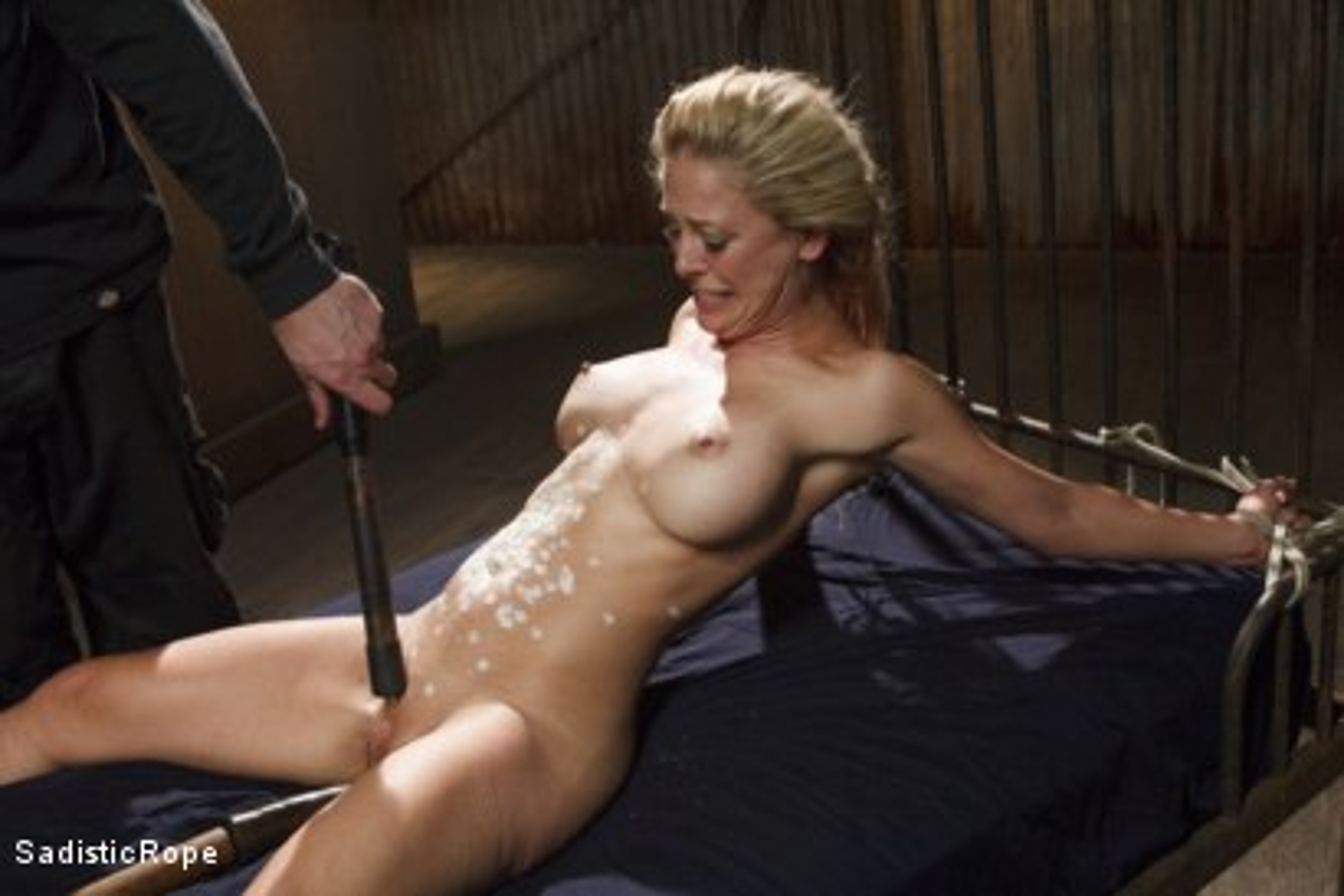 Photo number 13 from Hot Blonde with Big Tits in Brutal Predicament Bondage shot for Sadistic Rope on Kink.com. Featuring Cherie DeVille in hardcore BDSM & Fetish porn.