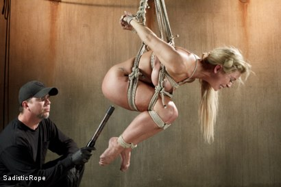 Photo number 10 from Hot Blonde with Big Tits in Brutal Predicament Bondage shot for Sadistic Rope on Kink.com. Featuring Cherie Deville in hardcore BDSM & Fetish porn.
