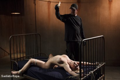 Photo number 12 from Hot Blonde with Big Tits in Brutal Predicament Bondage shot for Sadistic Rope on Kink.com. Featuring Cherie Deville in hardcore BDSM & Fetish porn.