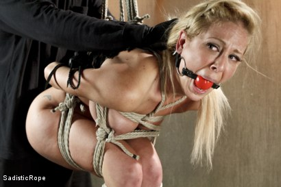 Photo number 7 from Hot Blonde with Big Tits in Brutal Predicament Bondage shot for Sadistic Rope on Kink.com. Featuring Cherie Deville in hardcore BDSM & Fetish porn.