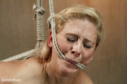 Photo number 8 from Hot Blonde with Big Tits in Brutal Predicament Bondage shot for Sadistic Rope on Kink.com. Featuring Cherie Deville in hardcore BDSM & Fetish porn.