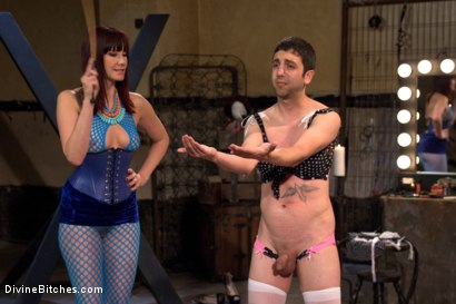 Photo number 5 from Slave pimped out to suck construction worker dick for Maitresse Madeline shot for Divine Bitches on Kink.com. Featuring Maitresse Madeline Marlowe , Jay West and Owen Gray in hardcore BDSM & Fetish porn.