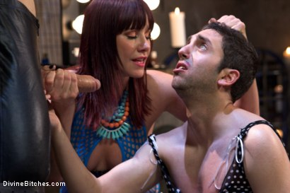Photo number 7 from Slave pimped out to suck construction worker dick for Maitresse Madeline shot for Divine Bitches on Kink.com. Featuring Maitresse Madeline Marlowe , Jay West and Owen Gray in hardcore BDSM & Fetish porn.