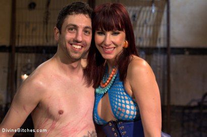 Photo number 10 from Slave pimped out to suck construction worker dick for Maitresse Madeline shot for Divine Bitches on Kink.com. Featuring Maitresse Madeline Marlowe , Jay West and Owen Gray in hardcore BDSM & Fetish porn.
