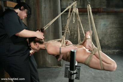 Photo number 5 from Satine Phoenix and Sir C shot for Hogtied on Kink.com. Featuring Sir C and Satine Phoenix in hardcore BDSM & Fetish porn.