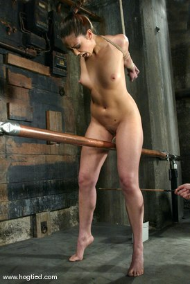 Photo number 2 from Satine Phoenix and Sir C shot for Hogtied on Kink.com. Featuring Sir C and Satine Phoenix in hardcore BDSM & Fetish porn.