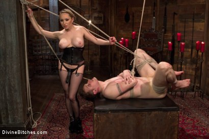 Photo number 5 from Extreme Femdom Chastity shot for Divine Bitches on Kink.com. Featuring Bastian Daniels and Aiden Starr in hardcore BDSM & Fetish porn.