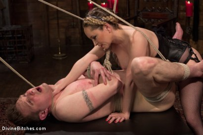 Photo number 10 from Extreme Femdom Chastity shot for Divine Bitches on Kink.com. Featuring Bastian Daniels and Aiden Starr in hardcore BDSM & Fetish porn.