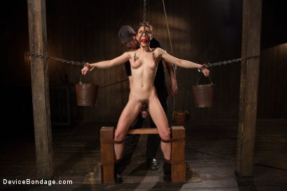 Photo number 5 from Lily LaBeau gets destroyed by grueling predicament bondage and made to cum against her will!! shot for Device Bondage on Kink.com. Featuring Lily LaBeau in hardcore BDSM & Fetish porn.
