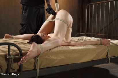 Photo number 8 from Lily LaBeau Endures Extreme Bondage, Brutal Foot Torture, and Screaming Orgasms!! shot for Sadistic Rope on Kink.com. Featuring Lily LaBeau in hardcore BDSM & Fetish porn.