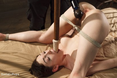 Photo number 9 from Lily LaBeau Endures Extreme Bondage, Brutal Foot Torture, and Screaming Orgasms!! shot for Sadistic Rope on Kink.com. Featuring Lily LaBeau in hardcore BDSM & Fetish porn.