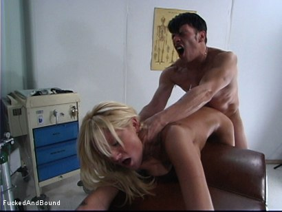 Photo number 12 from Manhandling the Patient shot for  on Kink.com. Featuring Anthony Rosano and Staci Thorn in hardcore BDSM & Fetish porn.