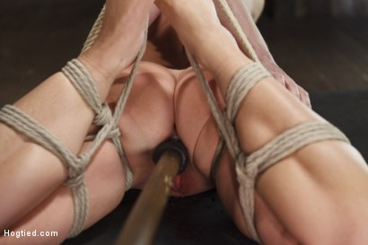 Photo number 14 from Big Tit Blonde Inescapable Orgasms shot for Hogtied on Kink.com. Featuring Sgt. Major and Carissa Montgomery in hardcore BDSM & Fetish porn.