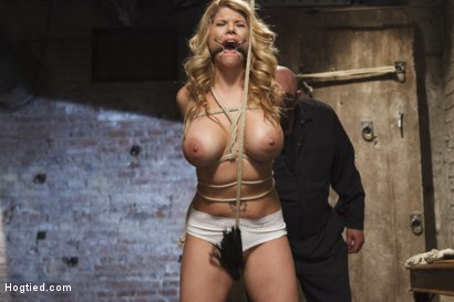 Photo number 7 from Big Tit Blonde Inescapable Orgasms shot for Hogtied on Kink.com. Featuring Sgt. Major and Carissa Montgomery in hardcore BDSM & Fetish porn.