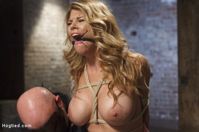 Photo number 6 from Big Tit Blonde Inescapable Orgasms shot for Hogtied on Kink.com. Featuring Sgt. Major and Carissa Montgomery in hardcore BDSM & Fetish porn.