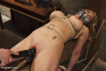 Photo number 11 from Big Tit Blonde Inescapable Orgasms shot for Hogtied on Kink.com. Featuring Sgt. Major and Carissa Montgomery in hardcore BDSM & Fetish porn.