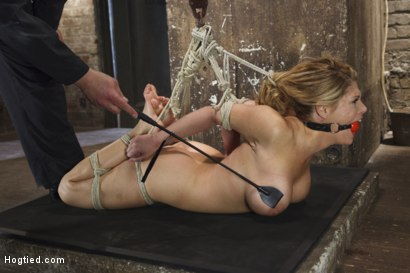 Photo number 13 from Big Tit Blonde Inescapable Orgasms shot for Hogtied on Kink.com. Featuring Sgt. Major and Carissa Montgomery in hardcore BDSM & Fetish porn.