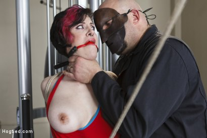Photo number 3 from Gym Babe Taken and Tormented shot for Hogtied on Kink.com. Featuring Sgt. Major and Iona Grace in hardcore BDSM & Fetish porn.