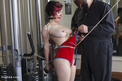 Photo number 2 from Gym Babe Taken and Tormented shot for Hogtied on Kink.com. Featuring Sgt. Major and Iona Grace in hardcore BDSM & Fetish porn.