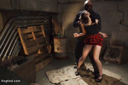 Photo number 2 from Taken, Tied and Tortured shot for Hogtied on Kink.com. Featuring Sgt. Major and Katt Anomia in hardcore BDSM & Fetish porn.