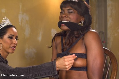 Photo number 15 from Isis Love Takes Revenge on Gorgeous Debutante Runway Model shot for Electro Sluts on Kink.com. Featuring Ana Foxxx and Isis Love in hardcore BDSM & Fetish porn.