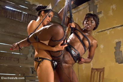 Photo number 8 from Isis Love Takes Revenge on Gorgeous Debutante Runway Model shot for Electro Sluts on Kink.com. Featuring Ana Foxxx and Isis Love in hardcore BDSM & Fetish porn.