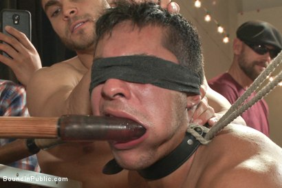Photo number 4 from THERE'S NO MERCY IN FUCKING! shot for Bound in Public on Kink.com. Featuring Seth Santoro, Brock Avery and Connor Maguire in hardcore BDSM & Fetish porn.