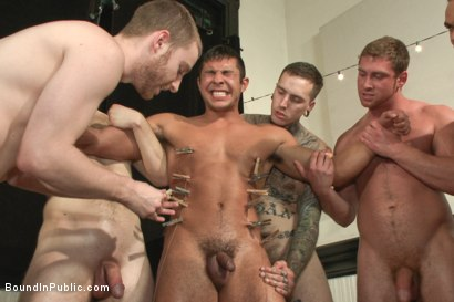 Photo number 13 from THERE'S NO MERCY IN FUCKING! shot for Bound in Public on Kink.com. Featuring Seth Santoro, Brock Avery and Connor Maguire in hardcore BDSM & Fetish porn.