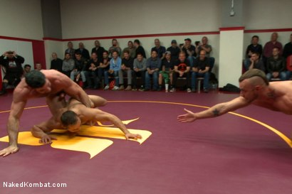 Photo number 6 from Brock Avery & Jessie Colter vs Billy & Seth Santoro - Live Match shot for Naked Kombat on Kink.com. Featuring Billy Santoro, Seth Santoro, Brock Avery and Jessie Colter in hardcore BDSM & Fetish porn.