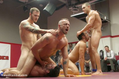Photo number 11 from Brock Avery & Jessie Colter vs Billy & Seth Santoro - Live Match shot for Naked Kombat on Kink.com. Featuring Billy Santoro, Seth Santoro, Brock Avery and Jessie Colter in hardcore BDSM & Fetish porn.