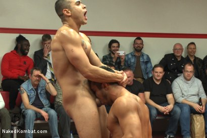 Photo number 10 from Brock Avery & Jessie Colter vs Billy & Seth Santoro - Live Match shot for Naked Kombat on Kink.com. Featuring Billy Santoro, Seth Santoro, Brock Avery and Jessie Colter in hardcore BDSM & Fetish porn.