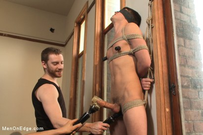 Photo number 5 from Boy next door with a big fat cock aching to cum shot for Men On Edge on Kink.com. Featuring Hunter Page in hardcore BDSM & Fetish porn.
