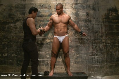 Photo number 2 from Muscled God Robert Axel takes the challenge! shot for 30 Minutes of Torment on Kink.com. Featuring Robert Axel in hardcore BDSM & Fetish porn.