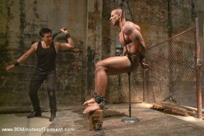 Photo number 9 from Muscled God Robert Axel takes the challenge! shot for 30 Minutes of Torment on Kink.com. Featuring Robert Axel in hardcore BDSM & Fetish porn.
