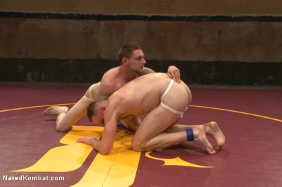 "Photo number 2 from Jay ""Slick-Dick"" Rising vs Jimmy ""The Bulldozer"" Bullet shot for Naked Kombat on Kink.com. Featuring Jimmy Bullet and Jay Rising in hardcore BDSM & Fetish porn."