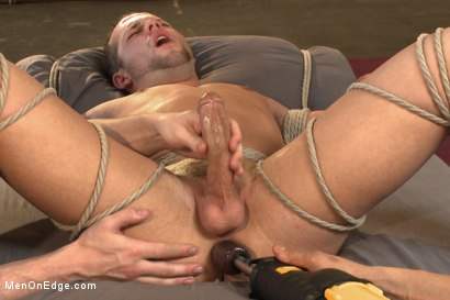 Photo number 11 from Hot new stud Luke Adams gets relentlessly edged and fucked to cum shot for Men On Edge on Kink.com. Featuring Luke Adams in hardcore BDSM & Fetish porn.