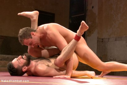 """Photo number 13 from Rich """"The Wrecking-Ball"""" Kelly vs Jacob """"The Bull"""" Durham shot for nakedkombat on Kink.com. Featuring Rich Kelly and Jacob Durham in hardcore BDSM & Fetish porn."""